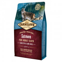 CARNILOVE CAT SALMON SENSITIVE&LONG HAIR 2kg