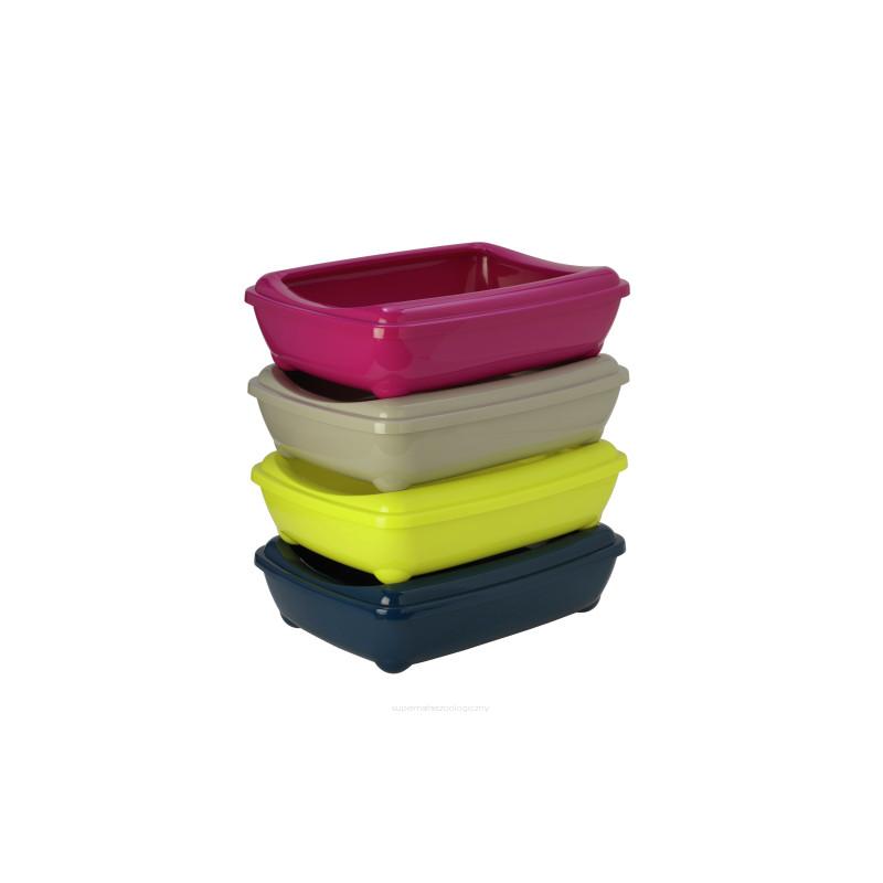 YARRO Kuweta jumbo owalna z ramką kolor fun 43x57x16,3cm  fuksja [Y3618-1402 FUKS]