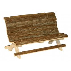 KERBL Ławka drewniana, 30 x 15 x 18 cm [82770]