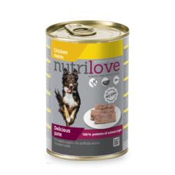 NUTRILOVE Premium pasztet dla psa z kurczaka 400g [11440]