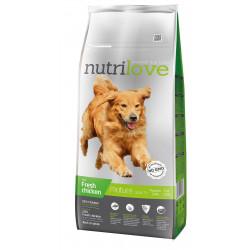 NUTRILOVE Premium dla psa MATURE +7 ze świeżym kurczakiem 12kg [11486]