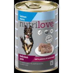 NUTRILOVE Premium pasztet dla psa z łososia 400g [11491]