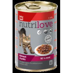 NUTRILOVE Premium kawałki z wołowiną w galaretce dla kota 400g [11445]