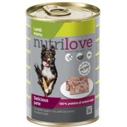 NUTRILOVE Premium pasztet dla psa z jagnięciny 400g [11439]
