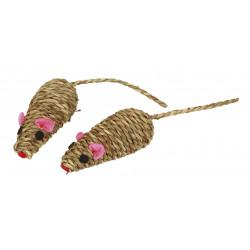KERBL Zabawka mysz z wikliny, 7 cm [82664]