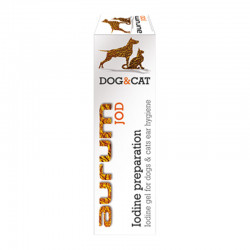 AURUM JOD - preparat jodowy – żel z jodem do higieny uszu psów i kotów 50ml