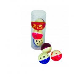 PET STYLE Zestaw 3 piłek z dzwonkami do zabawy dla kota