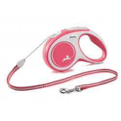 FLEXI NEW COMFORT - smycz automatyczna dla psa, czerwona S 5m LINKA [FL-2823]