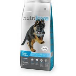 NUTRILOVE Premium dla psa JUNIOR L ze świeżym kurczakiem 12kg [11471]