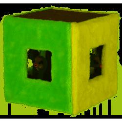 KERBL Zabawka sizalowa kostka, 20 x 20 x 20 cm [81670]