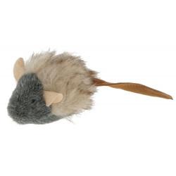 KERBL Zabawka myszka z pluszu, 15 cm [81675]