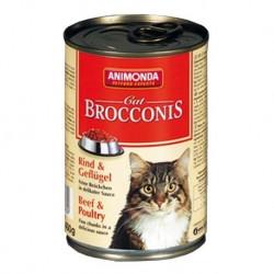 ANIMONDA Brocconis Cat puszka z wołowiną i drobiem 400 g