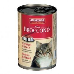 ANIMONDA Brocconis Cat puszka z drobiem i sercem 400 g