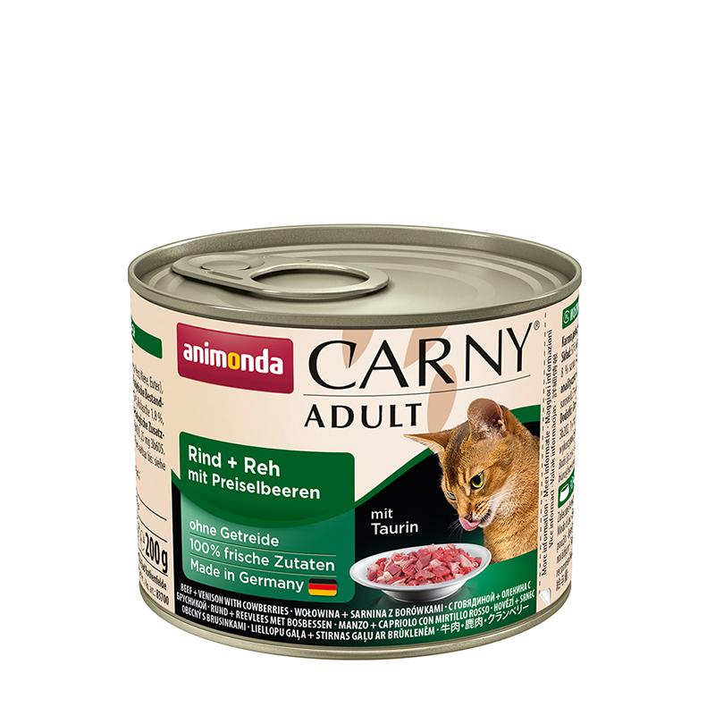 ANIMONDA Carny Adult puszka wołowina i sarnina z borówką 200 g