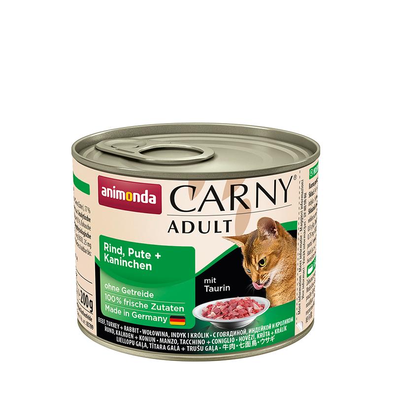 ANIMONDA Carny Adult puszka wołowina indyk i królik 200 g