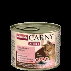 ANIMONDA Carny Adult puszka indyk, kurczak + krewetki 200 g