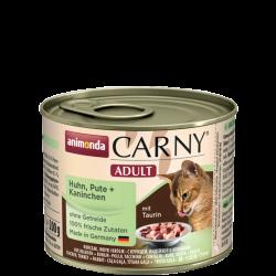 ANIMONDA Carny Adult puszka kurczak, indyk + królik 200 g
