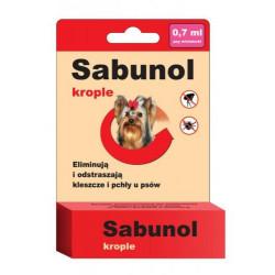 SABUNOL krople przeciw pchłom i kleszczom dla Yorków 0,7 ml