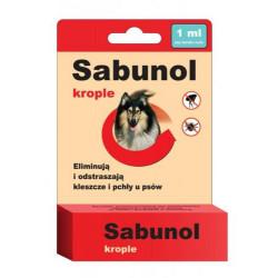 SABUNOL krople przeciw pchłom i kleszczom dla psów 1 ml