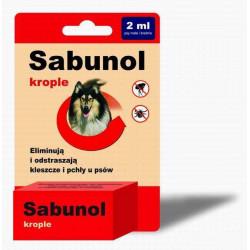 SABUNOL krople przeciw pchłom i kleszczom dla psów 2 ml