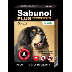 SABUNOL PLUS obroża przeciw pchłom i kleszczom dla psa 90 cm