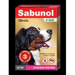 SABUNOL GPI obroża ozdobna różowa przeciw kleszczom i pchłom dla psów 50 cm
