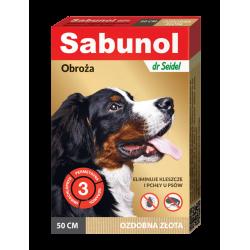 SABUNOL GPI obroża ozdobna złota przeciw pchłom i kleszczom dla psów 50 cm