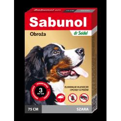 SABUNOL GPI obroża szara przeciw pchłom i kleszczom dla psów 75 cm