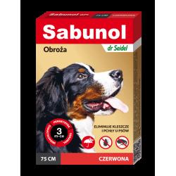 SABUNOL GPI obroża czerwona przeciw pchłom i kleszczom dla psów 75 cm