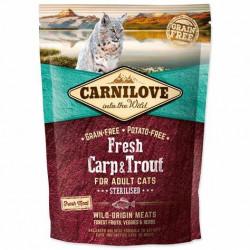 CARNILOVE CAT FRESH CARP & TROUT STERILISED FOR ADULT 400g