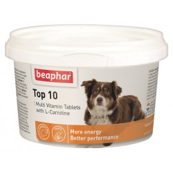 BEAPHAR TOP 10 DOG 180 TAB - tabl.multiwitaminowe z karnityną dla psów