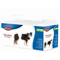 TRIXIE Pieluchy dla psów , S–M: 30–46 cm, 12 szt/opak [TX-23641]