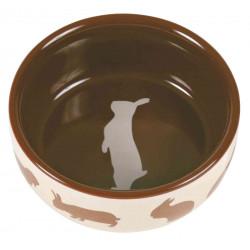 TRIXIE Miska ceramiczna dla królika z motywem, 250 ml/ śr.11 cm [TX-60733]