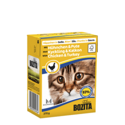 BOZITA Chunks in sauce with Chicken & Turkey 370g