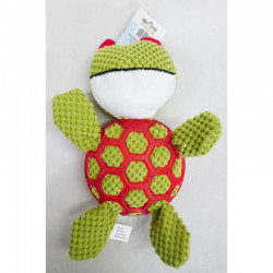 YARRO Zabawka pluszowa dla psa - żółw piszczący z gumową siatką 28cm [Y0006]