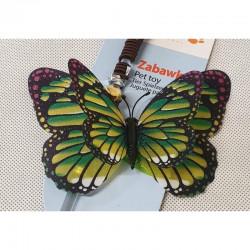 YARRO Zabawka dla kota - wędka z zielonym motylem [Y0203]