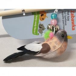 YARRO Zabawka dla kota - wędka z kolorowym ptaszkiem [Y0205]