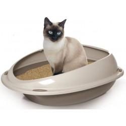 YARRO Kuweta dla kota z profilowaną, jasną ramką 57x40x19cm, pudrowy róż [Y10533 RÓŻ]