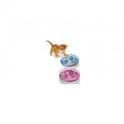 YARRO Zabawka dla kota Gonitwa UFO z 2 piłkami, śred. 25cm, niebieska [Y10605 NIEB]