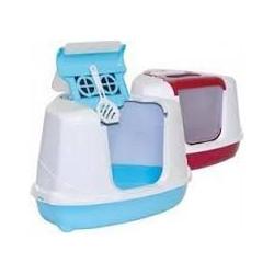 YARRO Toaleta narożna FLIP z filtrem i łopatką, kolor classic, 55,7x45x39cm granatowa [Y3401-0975 GRAN]
