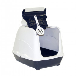 YARRO Toaleta FLIP nr 1 z filtrem i łopatką, kolor classic, 39x50x37cm granatowa [Y3412-0795 GRAN]