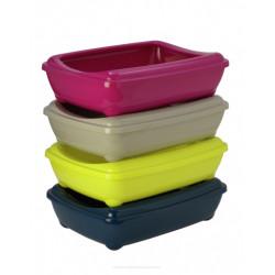 YARRO Kuweta jumbo owalna z ramką kolor classic 43x57x16,3cm ciepły szary [Y3619-0701 SZAR]