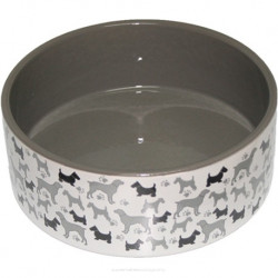 YARRO Miska ceramiczna dla psa Psy 19,5x7,5cm [Y2716]