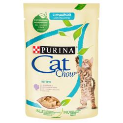 PURINA CAT CHOW KITTEN GiJ Indyk Cukinia 85g