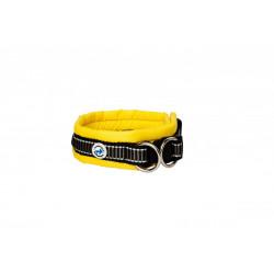 ALL FOR DOGS Klasyczna obroża Żółta M