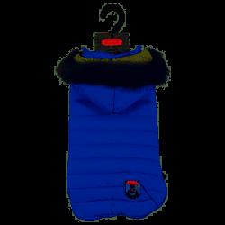 ZOLUX Nieprzemakalna kurtka puchowa z kapturem Urban S45 niebieski [411471BLE]