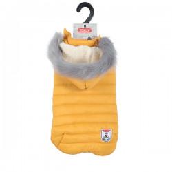 ZOLUX Nieprzemakalna kurtka puchowa z kapturem Urban S45 żółty [411471JAU]