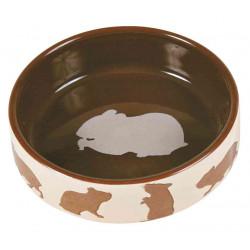 TRIXIE Miska ceramiczna dla chomika z motywem chomika, 80 ml, śr. 8 cm [TX-60731]